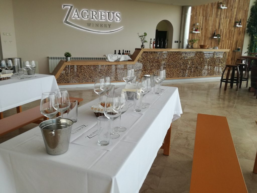 zagreus wine tasting room